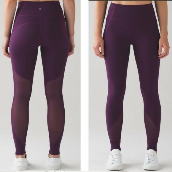 lululemon athletica Pants - Lululemon Hot Like Agni High Waist Leggings Size 4